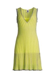 M Missoni Metallic Striped Knit Dress