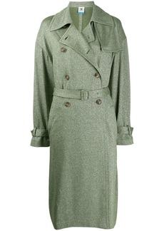 M Missoni metallic-thread trenchcoat
