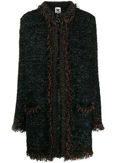 M Missoni metallic threading tweed coat