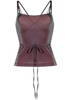 M Missoni metallic tie-waist top