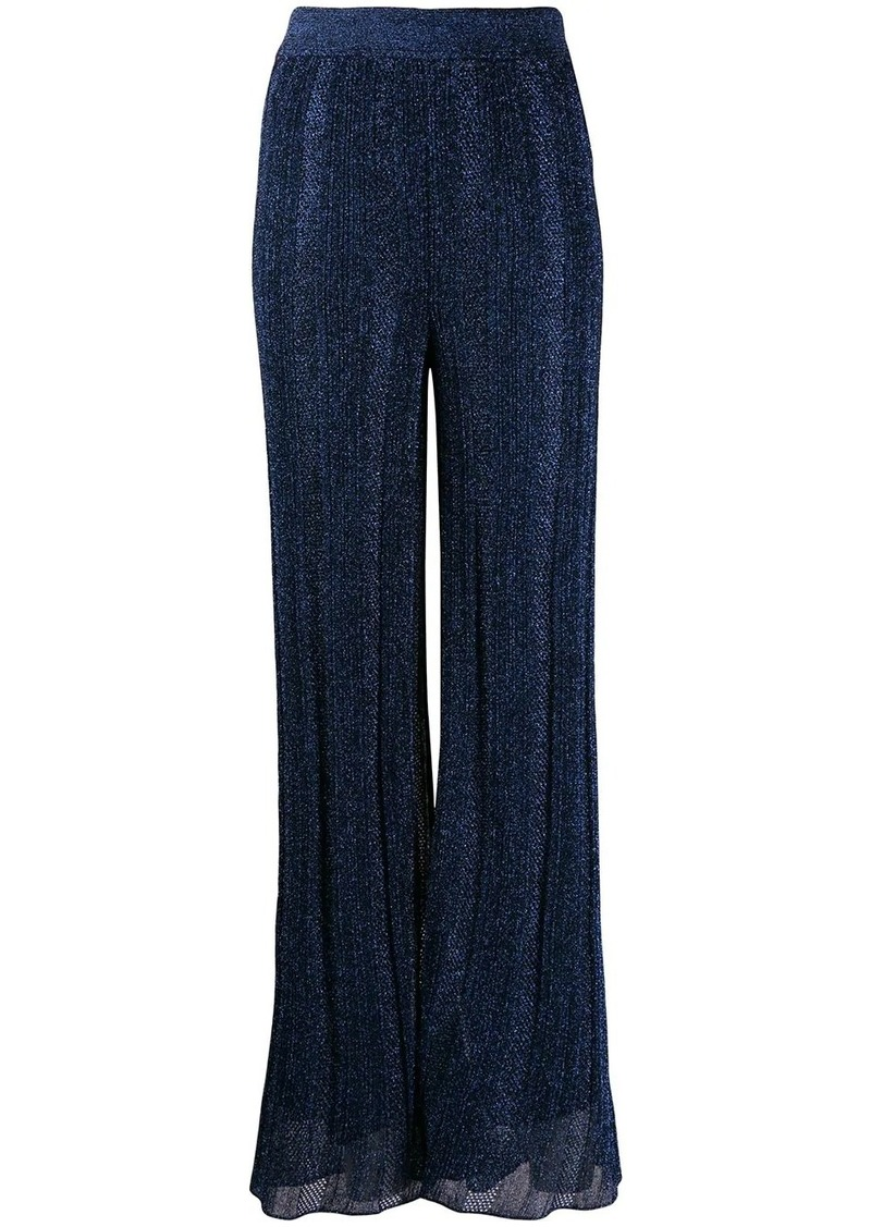 M Missoni metallic wide-leg trousers
