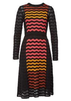 M Missoni Mini Dress with Wool and Cotton