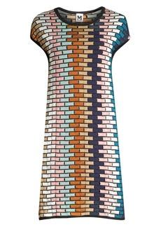 M Missoni Multicolor Grid Shift Dress