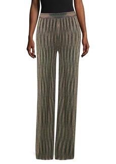 M Missoni Striped Multicolor Lurex Pants