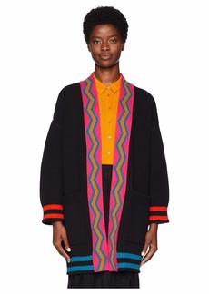 M Missoni Multicolor Stripe Cardigan Jacket