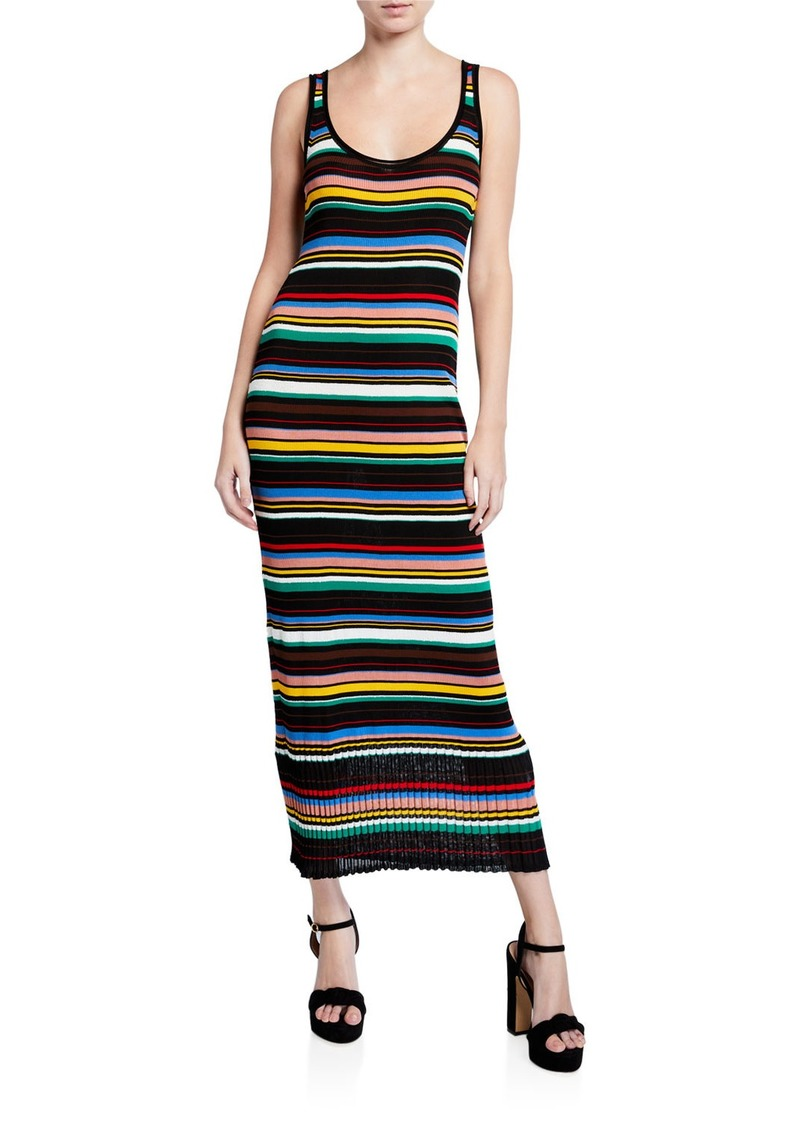M Missoni Multicolor Striped Long Tank Dress