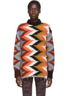 M Missoni Multicolor Zig Zag Crewneck Sweater