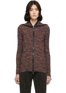 M Missoni Orange & Multicolor Printed Zip-Up Sweater