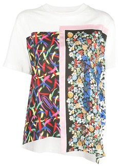 M Missoni panelled mixed print T-shirt