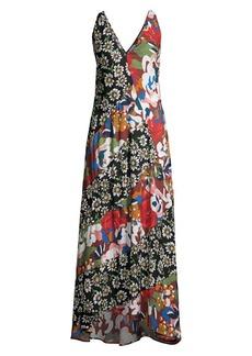 M Missoni Patchwork Floral Maxi Dress