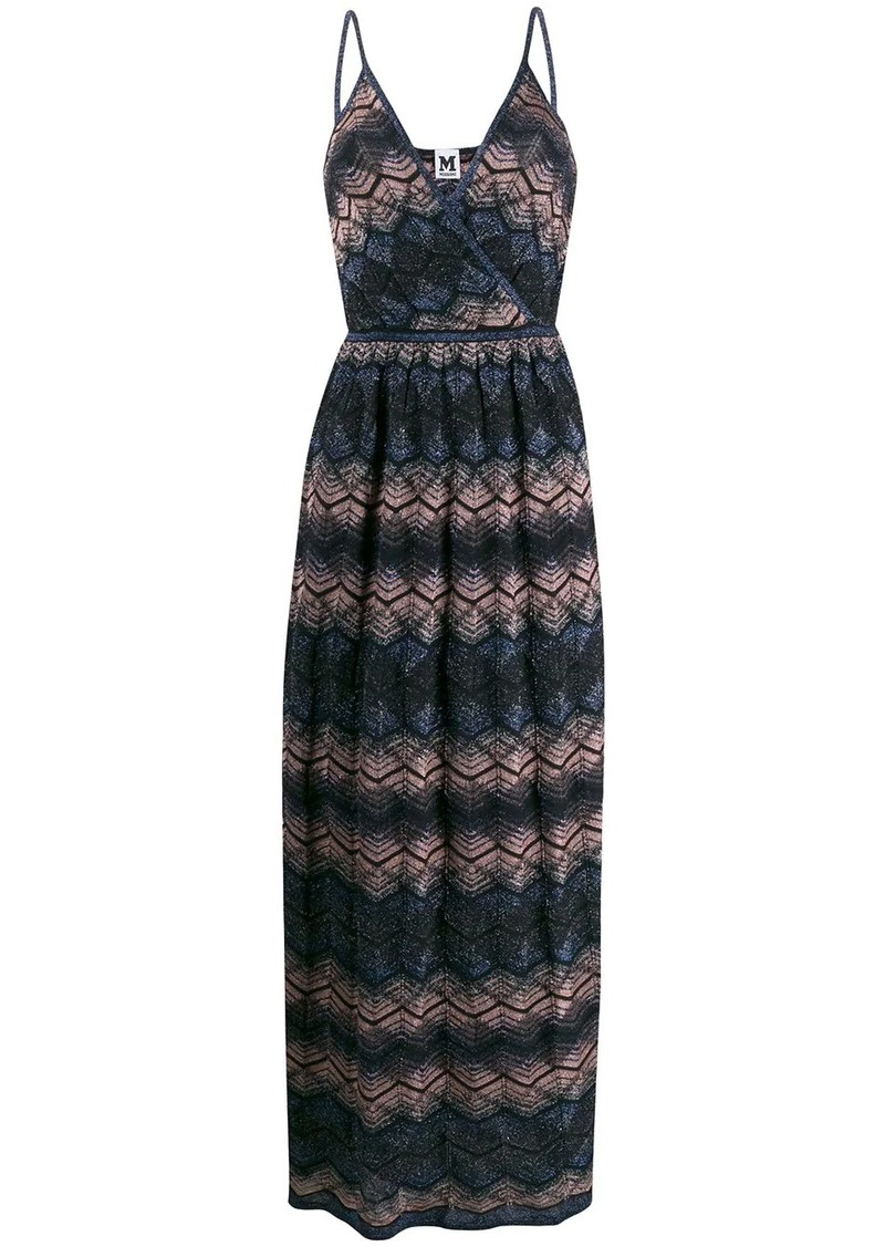 M Missoni patterned V-neck maxi dress