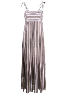 M Missoni pleated stripe maxi dress