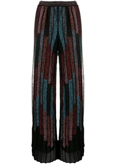 M Missoni pleated wide-leg trousers