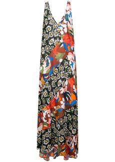 M Missoni print mix maxi dress
