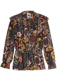 M Missoni Printed Silk Blouse