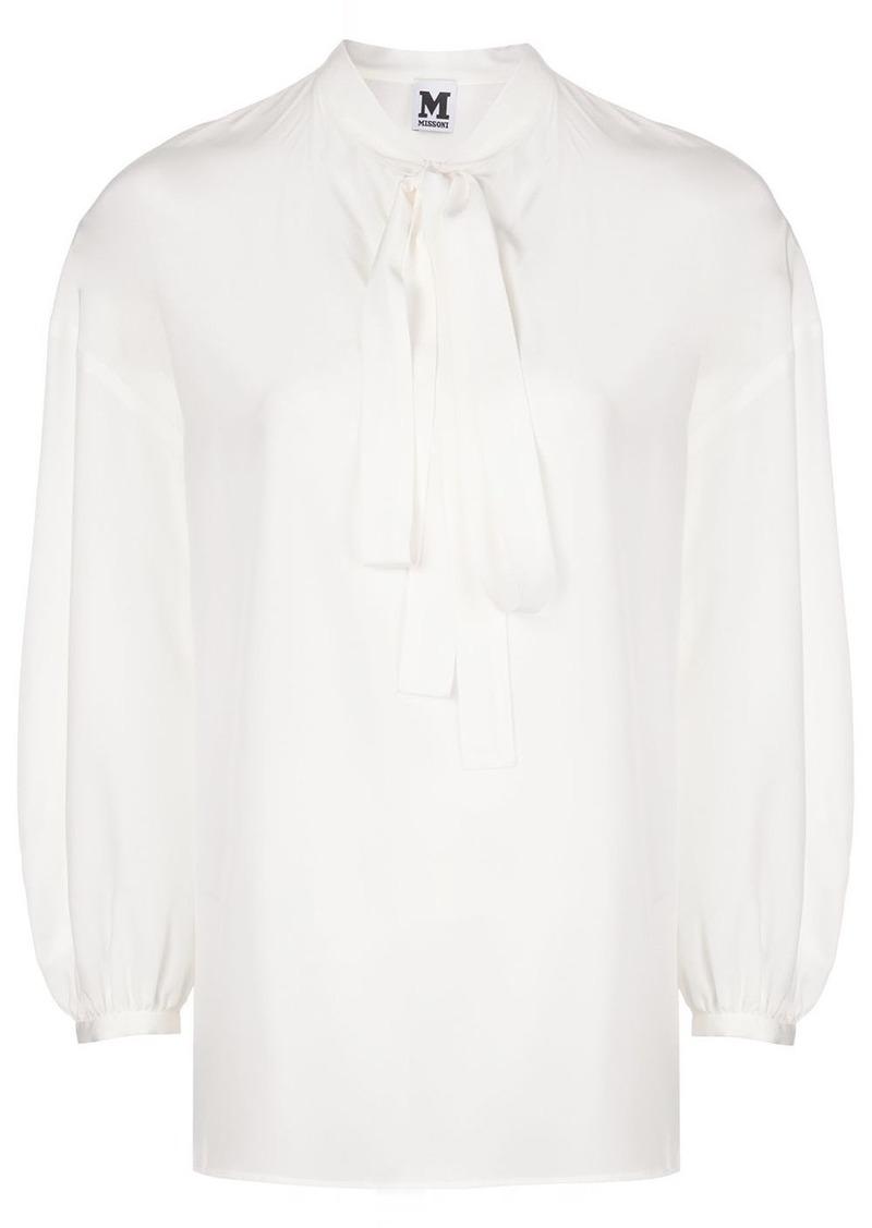 M Missoni pussy-bow silk blouse