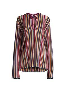 M Missoni Rainbow Stripe Long-Sleeve Top