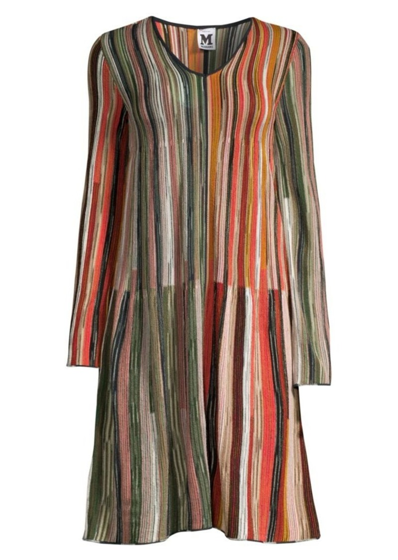 M Missoni Rainbow Stripe Shift Dress