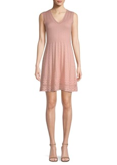 M Missoni Rib Knit V-Neck Dress
