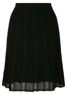 M Missoni ribbed-knit midi skirt