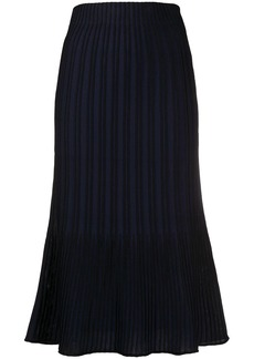 M Missoni ribbed-knit midi skirt