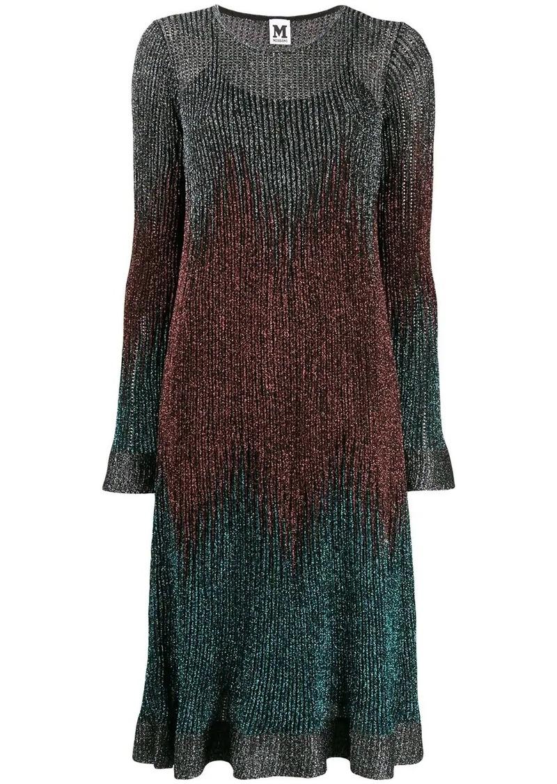 M Missoni ribbed shift shimmer dress