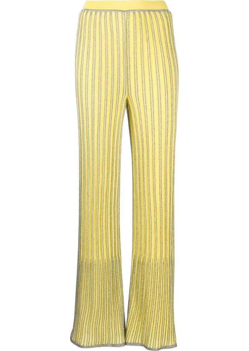 M Missoni ribbed wide-leg trousers