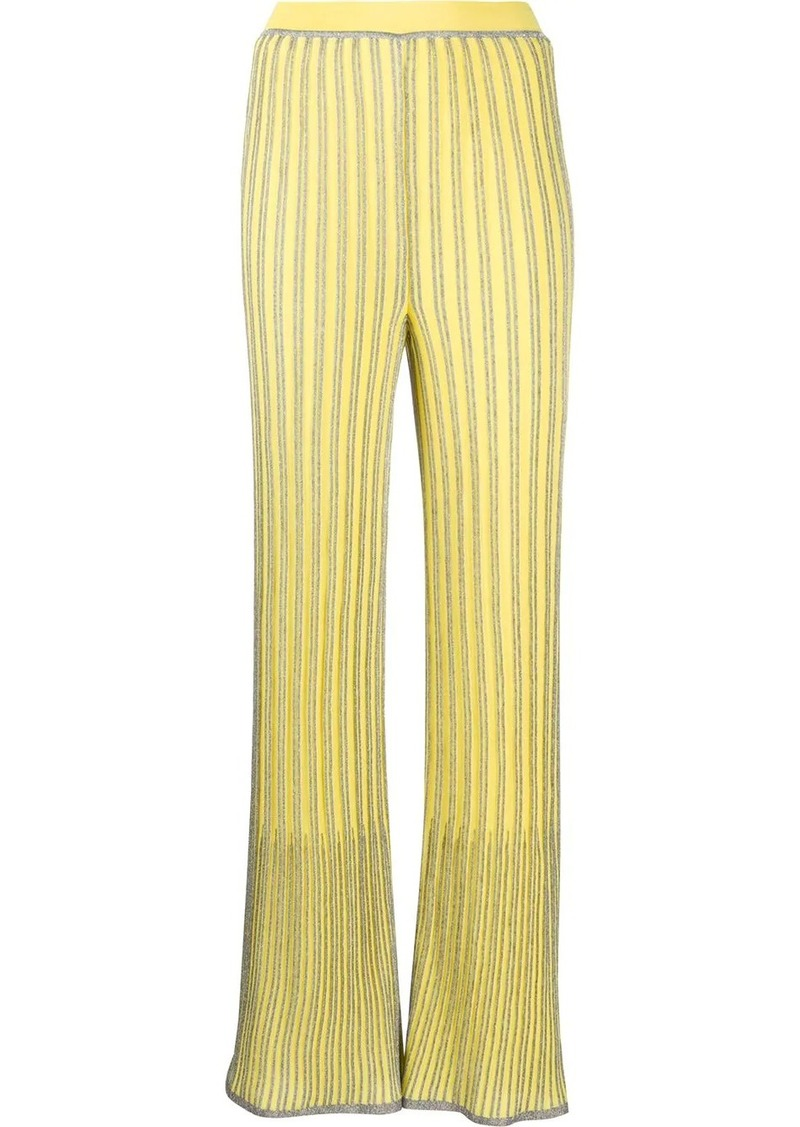 M Missoni ribbed wide-leg trousers