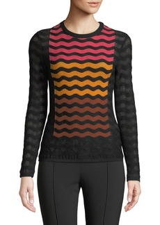 M Missoni Ripple Intarsia Knit Top