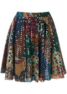 M Missoni sequin-embellished pleated mini skirt