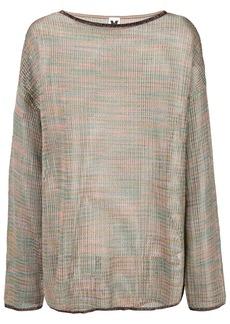 M Missoni sheer knitted jumper