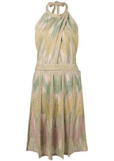 M Missoni short halterneck dress