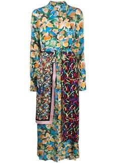 M Missoni silk patch-work maxi dress