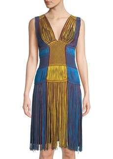 M Missoni Sleeveless Fringe Midi Dress