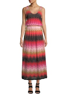 M Missoni Sleeveless Long Chevron Knit Gown