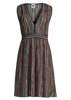M Missoni Sleeveless Lurex Fit-&-Flare Dress