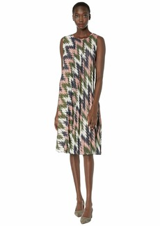 M Missoni Sleeveless Zigzag Plisse Midi Dress