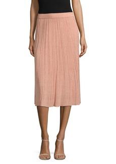 M Missoni Solid Lurex Plisse Skirt
