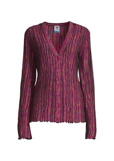 M Missoni Space Dye Button-Up Cardigan