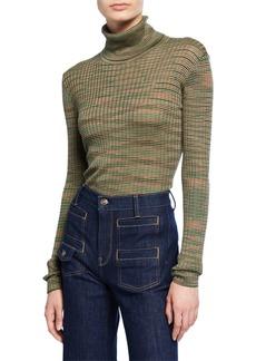 M Missoni Space-Dye Long-Sleeve Turtleneck Sweater