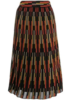 M Missoni stripe pattern knit skirt