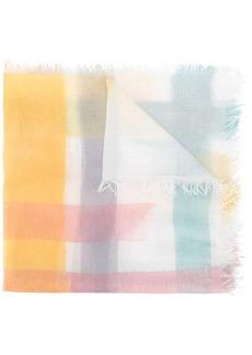 M Missoni stripe-print frayed scarf