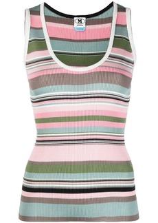 M Missoni stripe-print knitted vest
