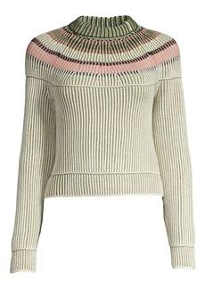 M Missoni Stripe Rib-Knit Virgin Wool Sweater