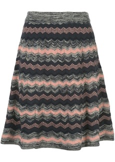 M Missoni fine knit striped skirt