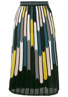 M Missoni striped A-line skirt