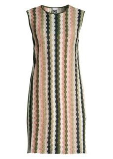 M Missoni Striped Crochet Shift Dress