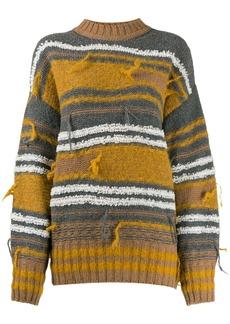M Missoni striped distressed jumper