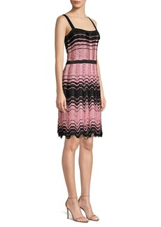 M Missoni Striped Floating Knit Dress