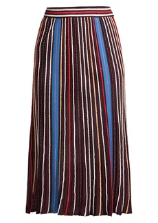 M Missoni Striped Knit A-Line Midi Skirt